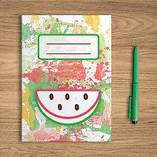 Papiernictvo - Šťavnaté ovocie - zápisník - 10831891_