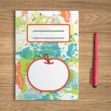 Papiernictvo - Šťavnaté ovocie - zápisník  (jablko) - 10831895_