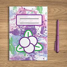 Papiernictvo - Šťavnaté ovocie - zápisník  (čučoriedky) - 10831897_