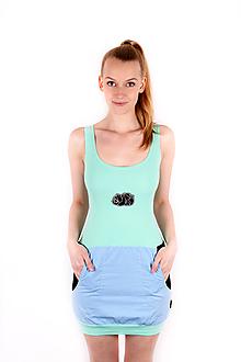 Šaty - Šaty MENTOL panda - 10833458_