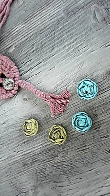 """Náušnice - Kvetinky , ktoré """"rastú na ušku"""" (Tyrkysová) - 10834518_"""