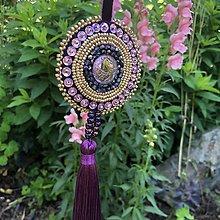 Dekorácie - Ozdoba fialový páv no.96 - 10834740_