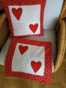 Úžitkový textil - Vankúš so srdiečkami - 10834325_