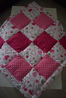 Textil - DĚTSKÁ PATCHWORKOVÁ DEKA ...růžová - 10834613_