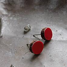 Náušnice - kožené retro napichovačky - 10834174_