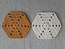 Úžitkový textil - Podšálka smotana - kari - 10833489_