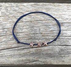 Náramky - Náramok s hviezdičkou na členok   (Modrá) - 10833774_