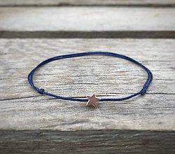 Náramky - Náramok s hviezdičkou na členok   (Modrá) - 10833830_