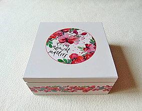 Krabičky - Drevená krabička Táto chvíľa - 10833398_
