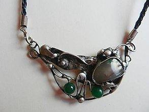 Náhrdelníky - Cínovaný náhrdelník-Búrka - 10833291_