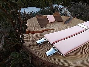 Doplnky - Pánsky set - drevený motýlik a traky - 10833339_