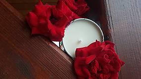 Svietidlá a sviečky - Sviečka zo sójového vosku - kvet - 10834125_