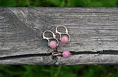 Sady šperkov - Sada v pozlátenom striebre Rodonit - 10833989_