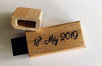 Krabičky - Drevená krabička + drevený USB 3.0 kľúč (USB 3.0) - 10834195_