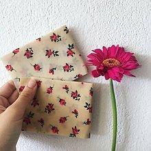 Úžitkový textil - Voskovaný obrúsok Ruža - EkObal - 10833666_