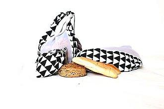 Nákupné tašky - Sáčky z lásky (7ks) (Čierno-biela) - 10833254_