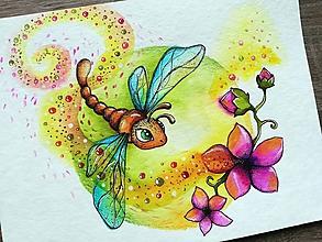Obrazy - Za vôňou kvetín poletím... - 10834113_
