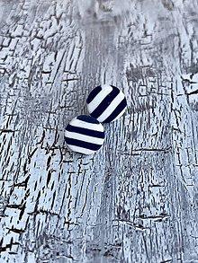 Náušnice - námornícke ďobky (MiNi tmavo modré) - 10833671_