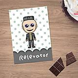 Papiernictvo - Zápisníček s vlastnou karikatúrou puntíky - 10833878_