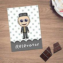 Papiernictvo - Zápisníček s vlastnou karikatúrou puntíky (trocha rebel) - 10833878_