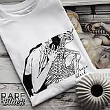 "Tričká - Biele pánske tričko ""Romance"" - 10837549_"