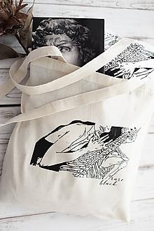 """Nákupné tašky - Béžová taška """"Romance"""" - 10837537_"""