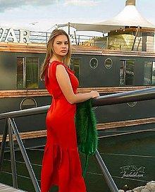 Šaty - Výpredaj tehlové spoločenské zo 150,- na 99!!! - 10836861_