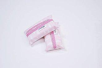 Iné tašky - Prenosný obal / zásobník na papierové vreckovky ružové obláčiky - 10835527_