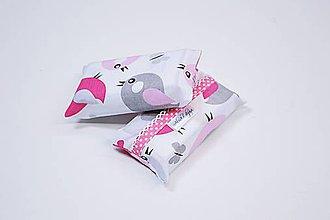 Iné tašky - Prenosný obal / zásobník na papierové vreckovky ružovo-sivé vtáčiky - 10835548_