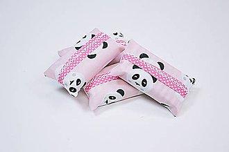 Iné tašky - Prenosný obal / zásobník na papierové vreckovky ružové pandy - 10835590_