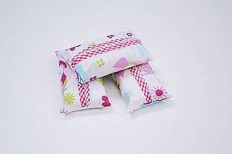 Iné tašky - Prenosný obal / zásobník na papierové vreckovky ružové sovičky - 10835593_