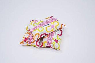 Iné tašky - Prenosný obal / zásobník na papierové vreckovky žlto-ružové kvety - 10835600_