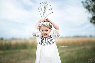 Detské doplnky - Kvetinový venček pre malé slečny - 10836796_