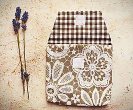 Taštičky - Taštička - čipkované kvety - 10837484_