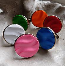 Prstene - prstienky vlnky / viac farieb - 10836201_