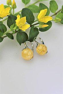 Náušnice - citrín náušnice AKCIOVÉ - 10835729_