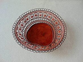 Dekorácie - Drôtená miska Jaseňová parádnica - 10835356_