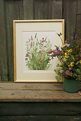 """Obrazy - Obraz """"Lúčne kvety"""", akvarel, tlač A4 - 10835179_"""