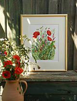 """Obrazy - Obraz """"Maky"""", akvarel, tlač A4 - 10835219_"""