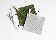Úžitkový textil - Chňapka II EXTRA hrubá - olivová/sivá (Sivá) - 10836793_