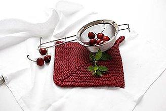 Úžitkový textil - Chňapka II EXTRA hrubá - bordová - 10836811_
