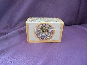 Krabičky - Drevená šperkovnička - smaltovanie - 10837476_