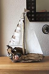Dekorácie - Loďka z naplaveného dreva I - 10835537_