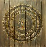 Obrazy - STROM ŽIVOTA (drevo-gold) 60 x 60 - 10837535_