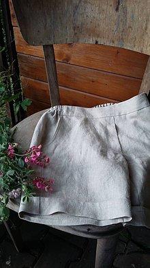 Nohavice - Kraťasy z ľanu - 10836111_
