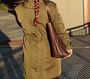 Veľké tašky - Kožená taška. Béžová dámska taška. - 10835885_