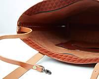 Veľké tašky - Ryšavá kožená taška. Dámska kožená taška. - 10835891_
