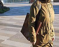 Veľké tašky - Ryšavá kožená taška. Dámska kožená taška. - 10835893_