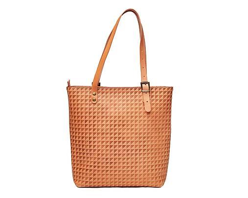 Kožená taška. Béžová dámska taška.