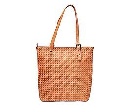 Veľké tašky - Kožená taška. Béžová dámska taška. - 10835867_